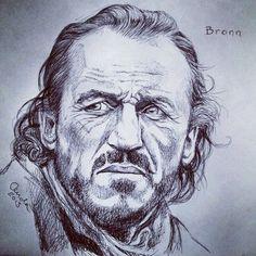 Bronn. Black ballpoint pen on sketchpaper. #Bronn via http://gameofthrones.tumblr.com/post/44318140942/bronn-black-ballpoint-pen-on-sketchpaper