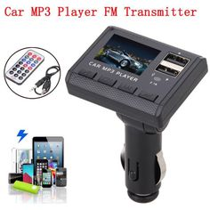 [Visit to Buy] Car Music MP3 Player FM Transmitter Modulator Dual USB Charging SD MMC Remote Car Styling Latest styles @118 #Advertisement