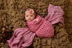 Newborn Boston Rose Pink Cocoon | Beautiful Photo Props