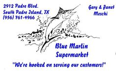 Blue Marlin Supermarket: on the island for those necessary groceries