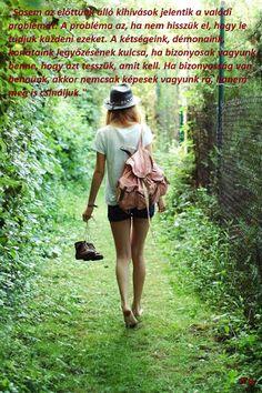 Walking barefoot through the grass