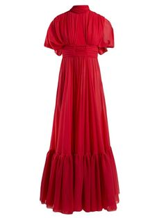 New Giambattista Valli Cut-out silk crepe de Chine gown Womens Dresses. Fashion is a popular style Iconic Dresses, Indian Gowns Dresses, Giambattista Valli, Silk Crepe, Colorful Fashion, Vintage Dresses, Floral Dresses, Fashion Dresses, Hijab Fashion