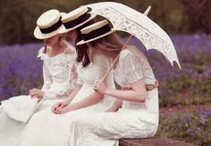 Ever Lovely: Boater hats and Old fashioned dresses