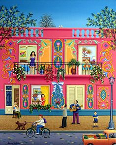 Serenade of Love by Laura Vidra - GINA Gallery of International Naive Art