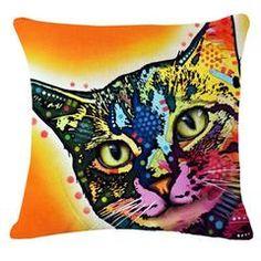 Colorful Mosaic Cat Throw Pillows Sofa Throw Pillows, Throw Pillow Covers, Sofa Bed, Cushions, Cheap Cushion Covers, Cat Cushion, Cat Pillow, Cat Colors, Cat Pattern