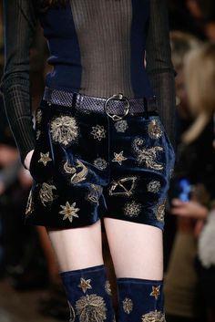 Velvet shorts enter the astrology zone. Emilio Pucci - Fall 2015 Ready-to-Wear