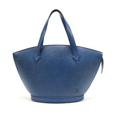 Louis Vuitton Saint Jacques Epi Handle bags Blue Leather M52275