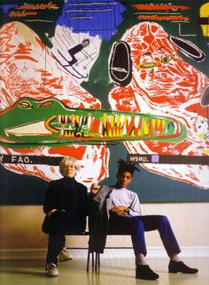 Warhol and Basquiat. Warhol and Basquiat. Warhol and Basquiat! Arte Pop, Pop Art, Keith Haring, Jm Basquiat, Jean Michel Basquiat Art, Basquiat Artist, Basquiat Paintings, Illustration Arte, Art Brut