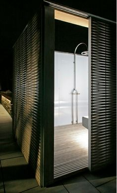 Love this outdoor shower - upscale apres beach shower beers, for sure!