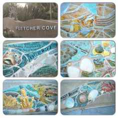 Sidewalk art @ Fletcher Cove Park, Solana Beach