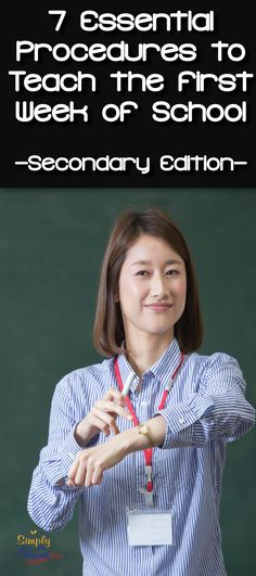 Must-have list, especially for new secondary teachers