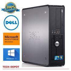 Dell Desktop Computer PC Core 2 Duo 3.0Ghz 4GB RAM up to 1TB DVDRW Windows 10