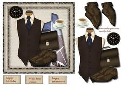Male Card Office on Craftsuprint designed by Marijke Kok - Great male card for any occasion, - Now available for download!