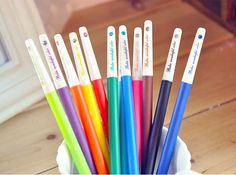 Welcome to ConvenienceStore Beautiful color pens. You will receive 12 colors gel ink pens. Good choice for your excellent DIY text working. My shop : https://www.etsy.com/shop/ConvenienceStore?ref=si_shop Notice: Please be reminded that due to lighting effects and monitors brightness/contrast setting etc. The color tone of the websites photo and the actual item could be slightly different. If you need the item urgently, Please message us before you purchase ...