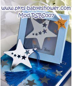 Recuerdos para Baby Shower - Separadores Estrella Azul - Disponible en www.pkts-babyshower.com