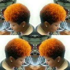 Natural styling with Cooper red tones @ S COUTURE SALON;  #scouturesalon #atlstylist #atlantahairsalons #atlantahairsalon #dunwoodysalon #chambleesalon #chambleedunwoodysalon #dunwoodystylist #naturalhair #silkpressatlantahairsalon #pressqueen #permorpress #queenofpress #hairthatmoves #hairbyshanique #nowhiring