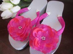 Wedding Flip Flops/Wedges/Platforms for by RocktheFlops on Etsy