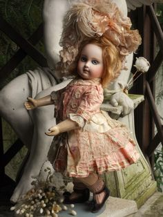 ~~~ Very Lovely French Bisque Portrait Bebe by E.Jumeau ~~~ from whendreamscometrue on Ruby Lane
