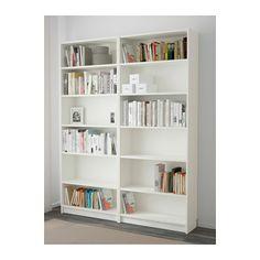 Billy oxberg librer a blanco vidrio ikea reforma pinterest estanter as espacios y - Ikea estanterias librerias ...