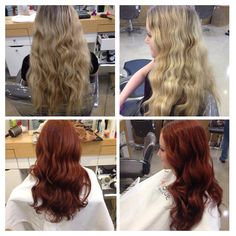 Dull blonde to beautiful red-copper hair! By Brittany @AndreasHogueSalon