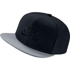 New Nike SB Icon Snapback Hat Black Wolf Grey