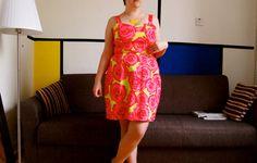 Neon roses Cynthia Rowley Simplicity K1688 dress