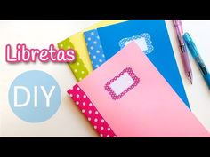 Manualidades: LIBRETAS (Cuadernillos de notas) muy fácil - Innova Manualidades - YouTube