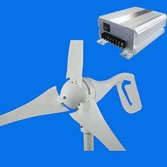 Sustentabilidade Energética Solar Termosolar e Eólica : Turbina Eólica 600W Fibra de Carbo