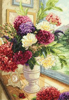 Summer Bouquet Cross Stitch Kit £42.00   Past Impressions   Dimensions
