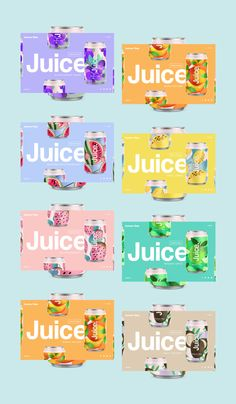Very simple way of grabbing the consumer's attention with simple type use and repetition. Juice Branding, Juice Packaging, Beverage Packaging, Brand Packaging, Water Branding, Branding Agency, Web Design, Label Design, Branding Design