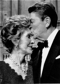 They shared a true love!  Reagan kisses  Nancy Reagan