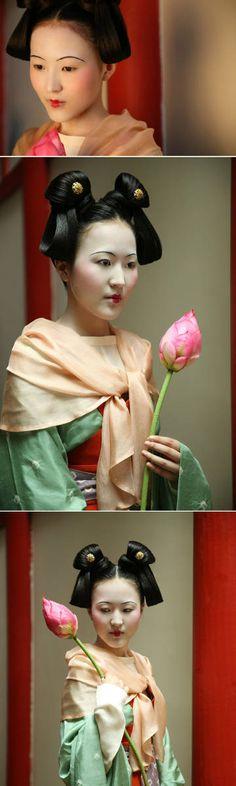 微博 Hanfu, Cheongsam, Traditional Chinese, Traditional Outfits, Chinese Clothing, Chinese Culture, Historical Costume, China Fashion, Costumes