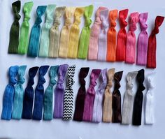 10 Elastic hair ties pick your colors ponytail holders, elastic ties no tug elastic, bella, yoga