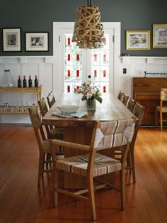 Inside Serena Lily Co Founders Colorful California Home Teak TableDining