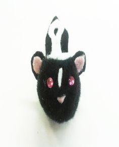 Skunk Pom Pom Ears Headband