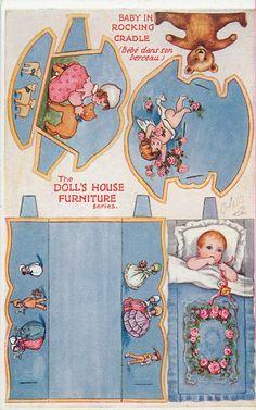 CASITA DE PAPEL: dollhouse paper: muebles antiguos, vintage furniture by tuckdb