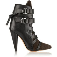 473901e28 Isabel Marant Royston Suede and Leather Ankle Boots - Lyst