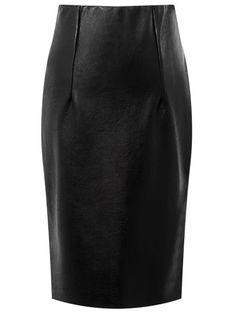 735e251ac3 Black Slit High Waist PU Bodycon Skirt High Waisted Pencil Skirt, Pencil  Skirt Black,