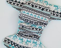 Fair Isle hybrid fitted cloth diaper by StarlightStitch on Etsy.