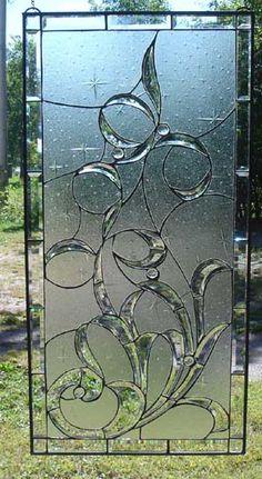 Whimsical Windsong  Beveled Glass Window