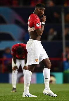 Paul Pogba of Manchester United looks dejected after the UEFA Champions League Quarter Final first leg match between Manchester United and FC Barcelona at Old Trafford on April 2019 in Manchester, England. Barcelona Futbol Club, Fc Barcelona, Sport Football, Soccer, Paul Pogba Manchester United, Manchester England, Professional Football, April 10, Old Trafford