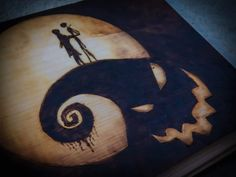 My Nightmare before Christmas pyrography.