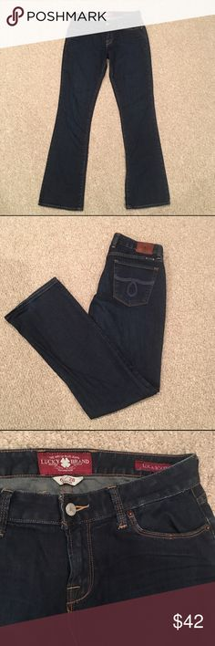 """Lucky Brand Lola Boot Cut Jean 28 Excellent condition. Dark wash denim Lola Boot Cut size 28 with 32"""" inseam Jeans Boot Cut"""