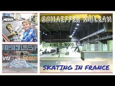 Skateboarder - Schaeffer McLean - Board Voyage - YouTube Skateboard Videos, Cool Skateboards, Skate Park, Skateboarding, King, France, Baseball Cards, Wood, Youtube