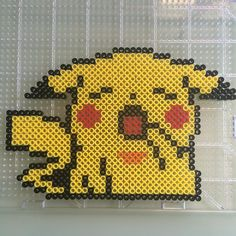 Pikachu perler beads by beadologydesign