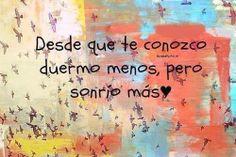 #sonrio mas #amor #palabras #frases