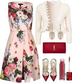 Стильные идеи! С чем сочетать платья с цветочным принтом.