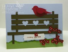 Punch Art & Bench by Debbie Henderson, Debbie's Designs, Stampin' Up! products.