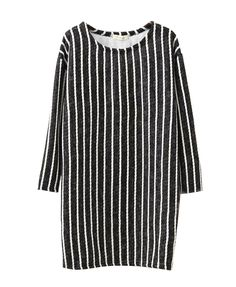 Thickened Stripes Medium Style Sweatshirt