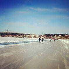 Ice Marathon track  #IceMarathon #Kuopio